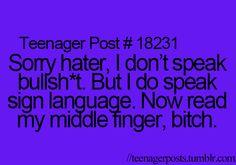 I am DYING of laughter! Ha hah hah haaaaaa!