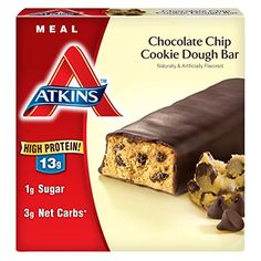 Atkins Meal Bars Chocolate Chip Cookie Dough 2.1 oz Bars 5 Count (Pack of 6) Review http://10healthyeatingtips.net/atkins-meal-bars-chocolate-chip-cookie-dough-2-1-oz-bars-5-count-pack-of-6-review/