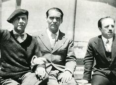 Federico Garcia Lorca con Carlos Morla Lynch  (el embajador de Chile).