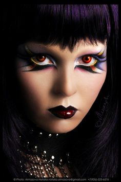 Goth by ~po4ti-budda * Make-up artist: M. Yangildina on Deviantart Where to buy Real Techniques brushes makeup -$10 http://youtu.be/eqlihtAACIY