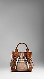 Small Bridle House Check Whipstitch Tote Bag