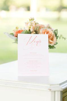 watercolor menu, photo by Amalie Orrange Photography http://ruffledblog.com/sangria-inspired-wedding-ideas #weddingideas #papergoods