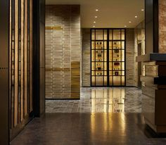 Smyth Hotel, New York, NY. Designer: Yabu Pushelberg, New York. Woodblock flooring - love!