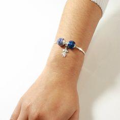 Look Bracelete de Menino c/ Berloque Azul