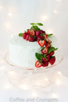This Tres Leches Cake is a moist sponge cake that is soaked with three milks, filled with sweet macerated strawberries and frosted with whipped cream. Just Desserts, Delicious Desserts, Yummy Food, Pretty Cakes, Beautiful Cakes, Cake Recipes, Dessert Recipes, Tres Leches Cake, Let Them Eat Cake