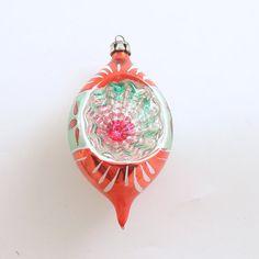 Vintage Glass Christmas Ornament Teardop Indent by efinegifts, $14.95