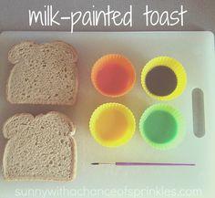 Milk painted toast