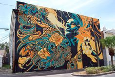 Pale Horse x Tes One: State Theatre Mural by Pale Horse , via Behance