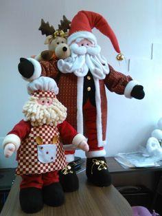 Santa Christmas Fabric, Christmas Love, Christmas Crafts, Merry Christmas, Felt Dolls, Fabric Decor, Softies, Diy And Crafts, Santa