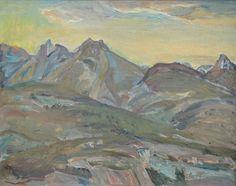 Frederick Varley - Sunset Near Kaslo B.C 12 x Oil on canvas board panel Tom Thomson, Group Of Seven, Canvas Board, Oil On Canvas, Artsy, Sunset, Landscape, Gallery, Artwork