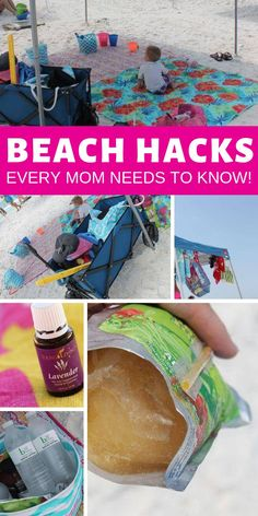 Top Beach Hacks Every Mom Needs to Know! Family Vacation Tips and Tricks to Save the Most Money! #passion4savings #beach #hacks #diy #savingmoney #vacation Tips And Tricks, Strand Hacks, Beach Vacation Packing List, Vacation Travel, Vacation Ideas, Beach Travel, Beach Trip Tips, Beach Camping Tips, Vacation Games