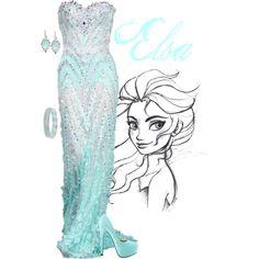 """Elsa"" by Alyssa-Eatinger on polyvore"
