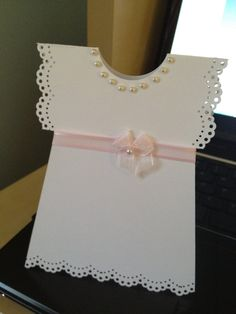 Christening Baptism First Holy Communion Confirmation Dress Invitations or Thank You Cards (set of 10). $40.00, via Etsy.