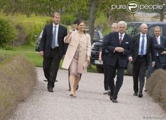 Crown Princess Victoria attended the opening of the exhibition Princess Estelle — Birth and Christening at Strömsholm Palace