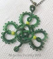 Yarnplayer's Tatting Blog: Celtic knot shamrock