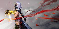 Heartseeker by mSppice on deviantART Fantasy Characters, Female Characters, Guild Wars 2, Girls World, Fantasy Girl, Female Art, Character Art, Wonder Woman, Deviantart