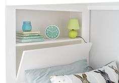 A niche behind one of the beds serve as storage for books and other knickknacks… Small Condo Living, Condo Interior Design, Book Storage, Tiny Spaces, Condos, Condominium, Floating Nightstand, House Tours, Philippines