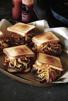 bacon and onions sandwich.