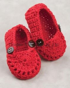 Adorable crochet booties!