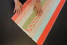 Cómo coser tiras de tela perfectamente rectas