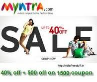 Extra 15% OFF on Orders above Rs. 1299 at Myntra.com. For avail the deal visit couponsbag and apply coupon codes.