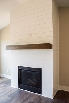 Shiplap Fireplace makes me warm and fuzzy inside!!