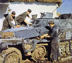 German Panzergrenadiers by GLORY. The largest archive of german WWII images, via Flickr
