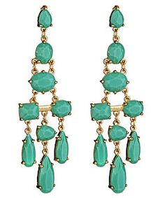 max and chloe turquoise earrings