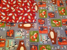 Large Baby Receiving Blanket, Forest Animals, Monkeys, Grey, Brown, Green, Baby Blanket, Baby Shower Gift on Etsy, $16.50