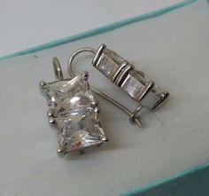 Vintage Ohrhänger - 925er Silberohrhänger mit  Kristallbesatz   SO198 - ein Designerstück von Atelier-Regina bei DaWanda