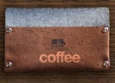 Coffee. Coffee lovers gift. Minimal. Sustainable Design. Subrr. Cork. Wallet. kck.st/1B32mC8