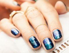galaxy nail art Easy Nail designs for short nails