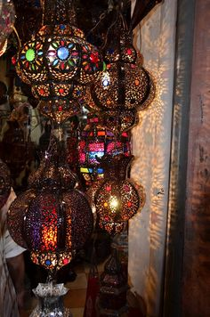 Gorgeous moroccan lanterns