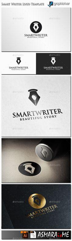 Smart Writer Logo — Vector EPS #academy #teacher • Available here → https://graphicriver.net/item/smart-writer-logo/12387960?ref=pxcr