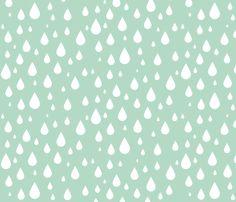 Rain Drops fabric by kansas_vintage on Spoonflower - custom fabric