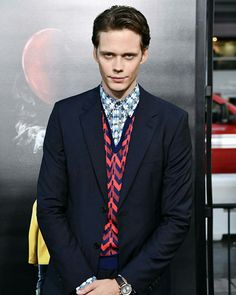 Bill Skarsgard (AKA Pennywise). Can they stop hiring cute guys to play psychopaths? I'm starting to develop an unhealthy obsession.