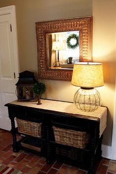 Love this arrangement on entry way table.