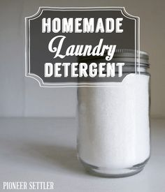 Homemade Laundry Detergent using citric acid.... have to try it!