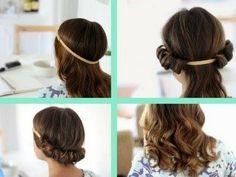 How To Curl your Hair Without Heat! (head band) - YouTube