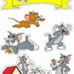 Topo de Bolo de Papel Tom e Jerry