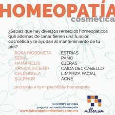#Recuerda que la homeopatía no solo te ayuda a cuidar tu salud también tiene un fuerte potencial cosmético