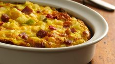 Try a hearty breakfast bake for two, reminiscent of a bread pudding and made with convenient Grands!® frozen biscuits.