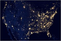 A Never-Before-Seen Satellite View of Earth's Cities at Night - Technology - The Atlantic Cities