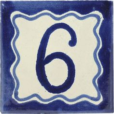 Street numbers from Mexico handmade of talavera tiles look great on the house exterior. They are decorative making locating a property easy. Painting Ceramic Tiles, Street House, House Numbers, Hand Painted Ceramics, Wall Tiles, Rustic, Elegant, Decor, Art
