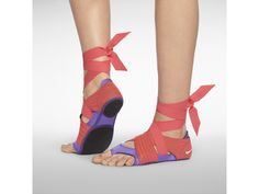 Ballet shoe trainers! WANT! Nike Studio Wrap Pack.