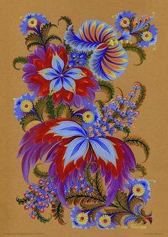 Ukrainian Petrykivka Art by Olena Skytsiuk.
