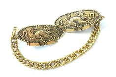 Gold Tone Leo Sweater Clips - Patented - Original Card - Astrology Jewelry August - Lion on Etsy, $18.00