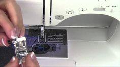 How to do a jean hem!! LOVE IT!! Brother CS 6000i 31 Jeans Hem