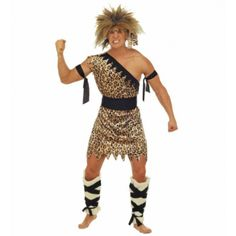 #Costume #Disfraz de Troglodita con Calentadores para Hombre