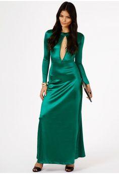 Kitia Silky Keyhole Maxi Dress - Maxi Dresses - Missguided